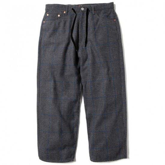 68&BROTHERS シックスティエイトアンドブラザーズ Tweed Plaid Wide Pants ツイードプレイドワイドパンツ CHARCOAL