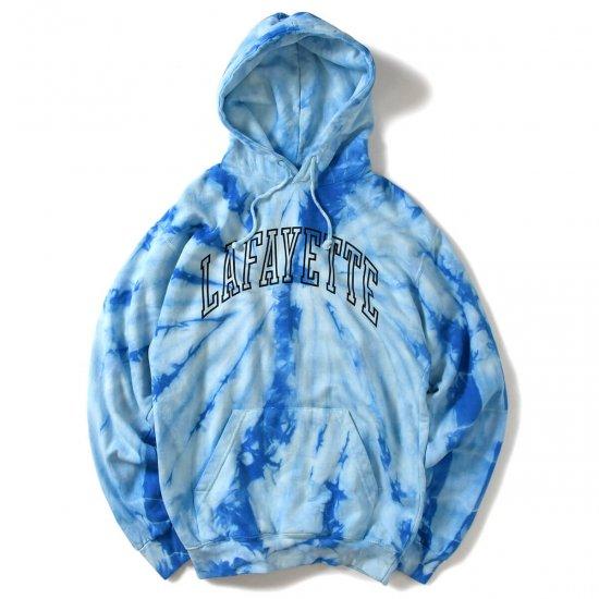 Lafayette ラファイエット ARCH LOGO TIE DYED HOODED SWEATSHIRT アーチロゴタイダイフーデッドスウェットシャツ BLUE