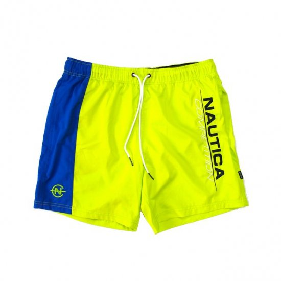 <img class='new_mark_img1' src='https://img.shop-pro.jp/img/new/icons15.gif' style='border:none;display:inline;margin:0px;padding:0px;width:auto;' />NAUTICA COMPETITION ノーティカコンペティション COLOR BLOCK  SWIM SHORTS カラーブロックスイムショーツ LIME x BLUE