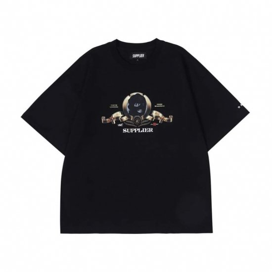 <img class='new_mark_img1' src='https://img.shop-pro.jp/img/new/icons15.gif' style='border:none;display:inline;margin:0px;padding:0px;width:auto;' />SUPPLIER サプライヤー FILM TEE フィルムティー BLACK