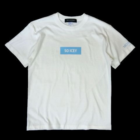 <img class='new_mark_img1' src='//img.shop-pro.jp/img/new/icons50.gif' style='border:none;display:inline;margin:0px;padding:0px;width:auto;' />MO'&MO' SOICEY Box Logo Tee WHITE