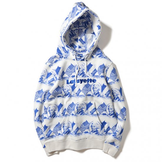 <img class='new_mark_img1' src='https://img.shop-pro.jp/img/new/icons50.gif' style='border:none;display:inline;margin:0px;padding:0px;width:auto;' />Lafayette LOGO ALL OVER SWEATSHIRT WHITE