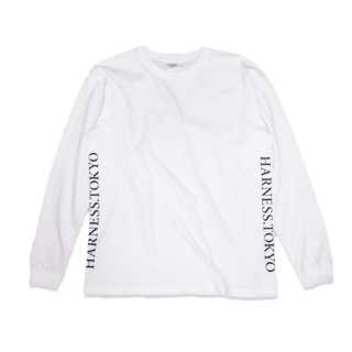 Side LOGO long sleeved tee/WH