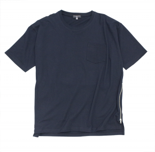 Side zip Tee/BK