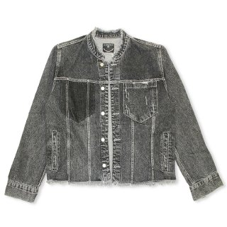 <img class='new_mark_img1' src='//img.shop-pro.jp/img/new/icons8.gif' style='border:none;display:inline;margin:0px;padding:0px;width:auto;' />Cut-off Denim Jacket/BK