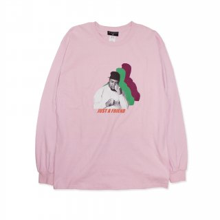 Gradation Shadow L/S Tee_LIGHT PINK