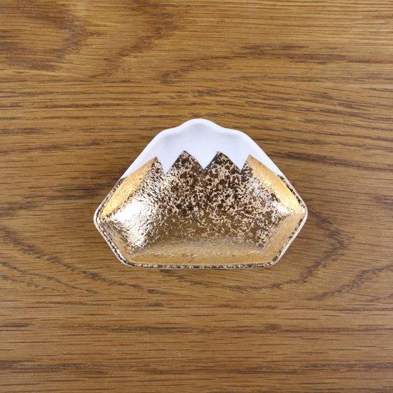 富士型豆皿 金箔