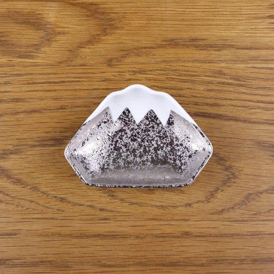 富士型豆皿 銀箔