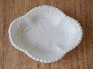木瓜型豆皿 白磁