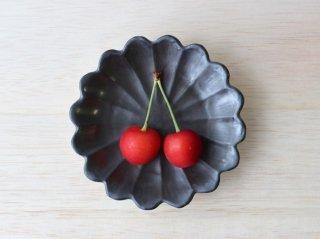 菊丸手塩皿 モノクロ