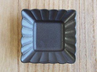 菊角豆鉢 黒吹き