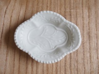木瓜型豆皿 白マット
