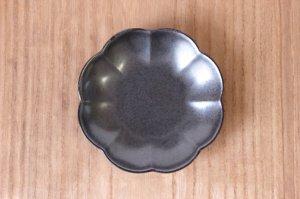 菊割小皿 銀砂