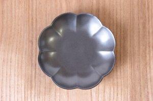 15cm 菊割皿 銀砂