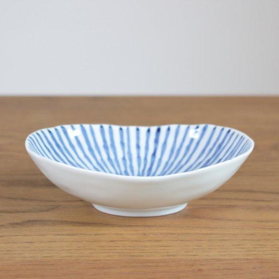 古染十草 小判薄鉢