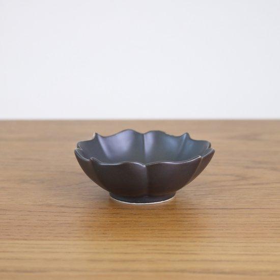 桔梗渕小鉢 黒マット