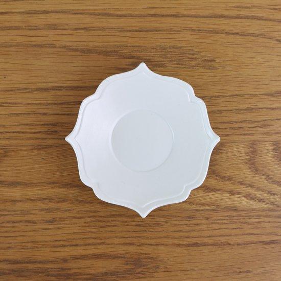 桔梗渕小皿 白マット