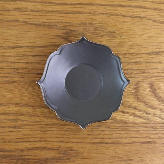 桔梗渕小皿 黒マット
