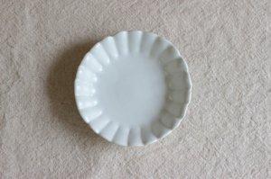 手塩皿菊 白マット