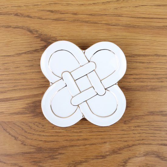 金線四つ葉結び 小皿
