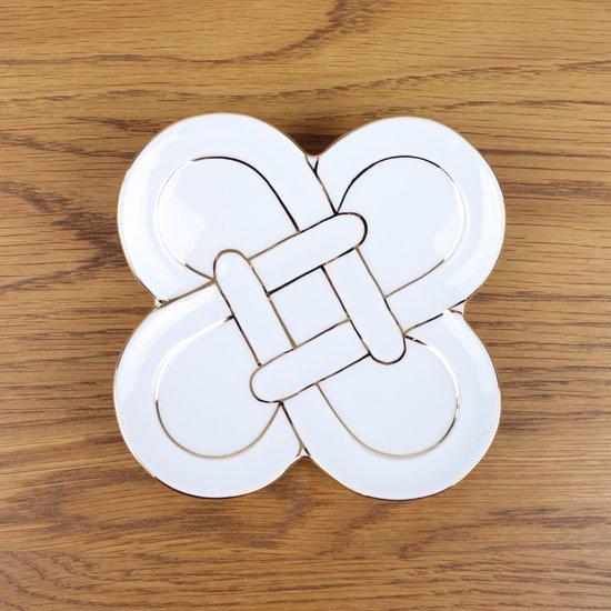金線四つ葉結び 銘々皿