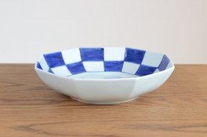 市松八角平鉢