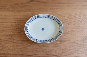 楕円皿(中)剣先紋