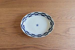 楕円皿(中)市松