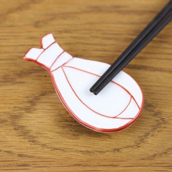 袋結び箸置き(赤)