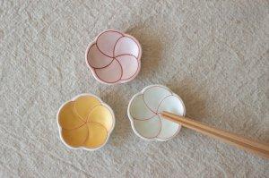 梅型パール箸置き(全3色)