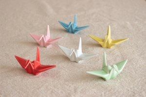折り鶴箸置き(全6色)