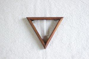 三角フレーム一輪挿し(小)ブラウン