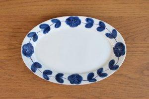 リム楕円皿(大)花つなぎ
