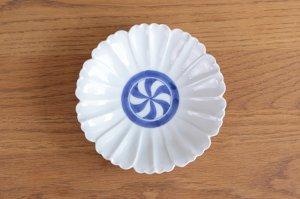 花型5.5寸皿 染付見込渦紋