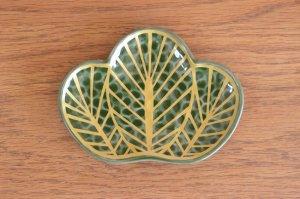 松型銘々皿(緑)