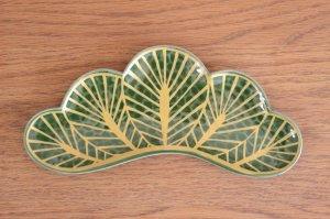 松型前菜皿(緑)