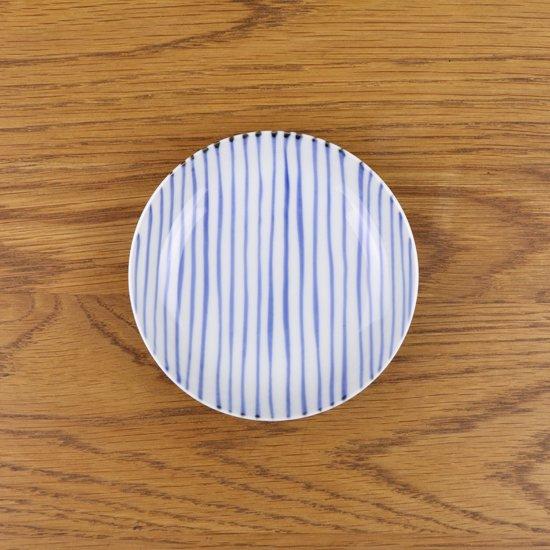 3.5寸皿 染付呉須十草
