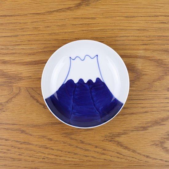 3.5寸皿 染付富士絵
