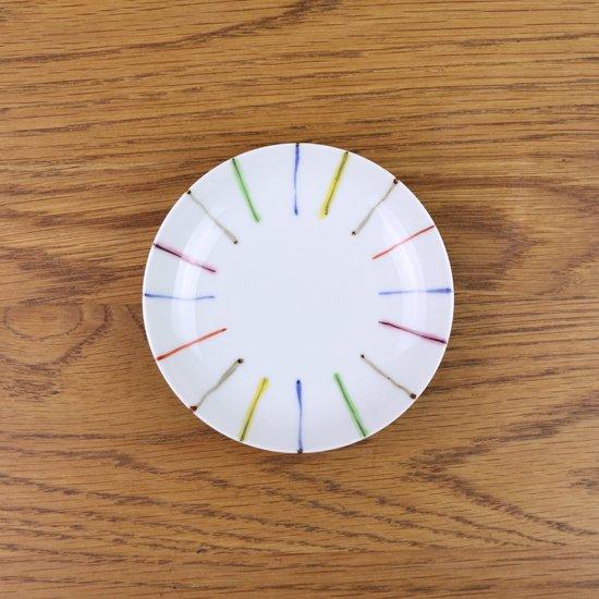 3.5寸皿 染錦線十草
