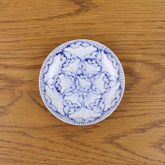 3.5寸皿 染付花弁紋