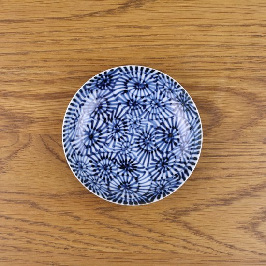 3.5寸皿 染付蛸唐草
