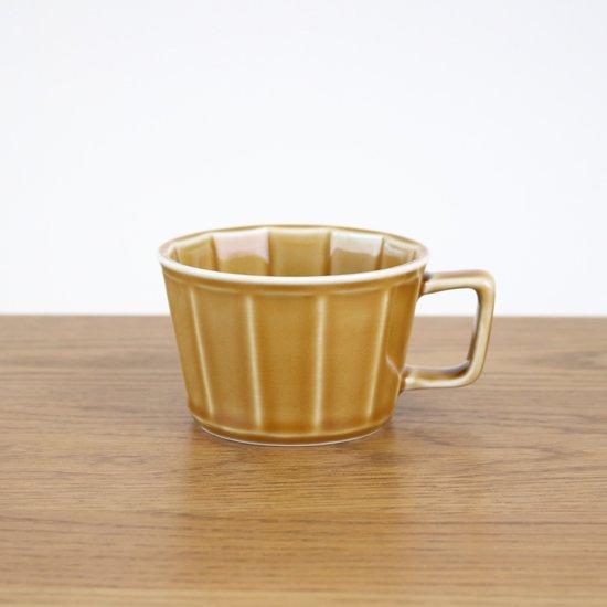 面取スープカップ(琥珀)