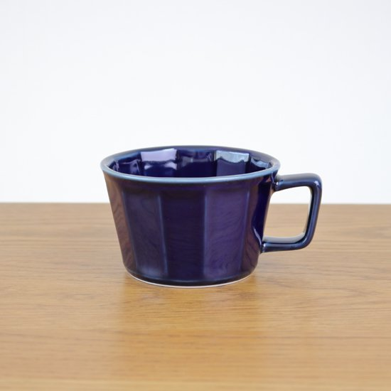 面取スープカップ(紺)