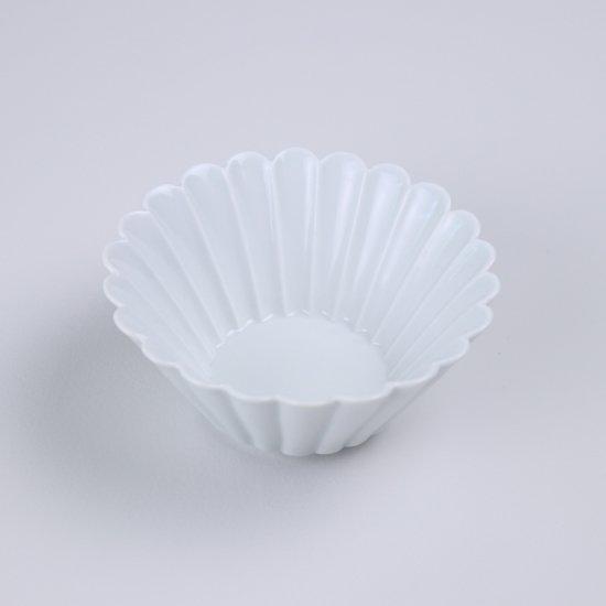 菊彫反鉢(小)白マット