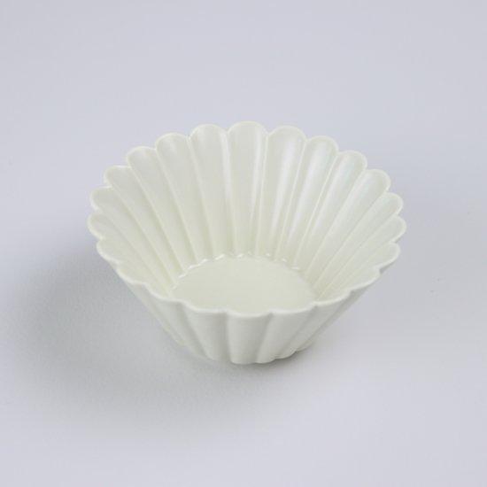 菊彫反鉢(小)アイボリーマット