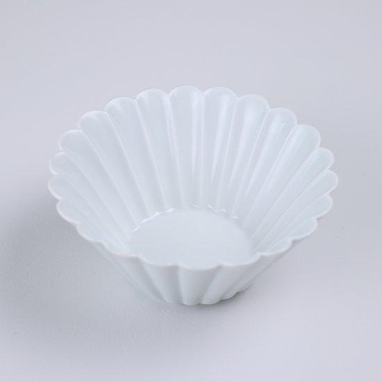 菊彫反鉢(中)白マット