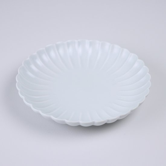 菊彫六寸皿 白マット
