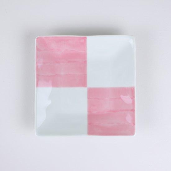 正角皿(小)なでしこ和市松