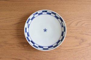 市松 六寸皿