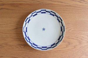 市松 七寸皿